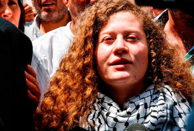 Palestinian teen Ahed Tamimi who 'assaulted' Israeli soldier released from prison