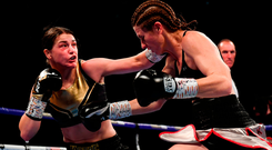 Katie Taylor on her way to beating Kimberly Connor. Photo: Sportsfile