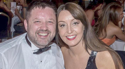 Brian O'Callaghan-Westropp and Zoe Holohan, who were on their honeymoon in Greece
