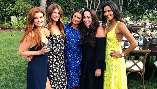Lea Michele and pals at her 'epic' engagement party | Photo via Instagram.com/LeaMichele
