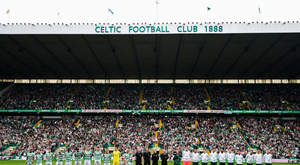 20 May 2018; Celtic and Republic of Ireland players line up prior to Scott Brown's testimonial match between Celtic and Republic of Ireland XI at Celtic Park in Glasgow, Scotland. Photo by Stephen McCarthy/Sportsfile