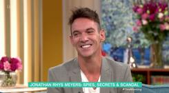 Jonathan Rhys Meyers on ITV's This Morning. PIC: ITV