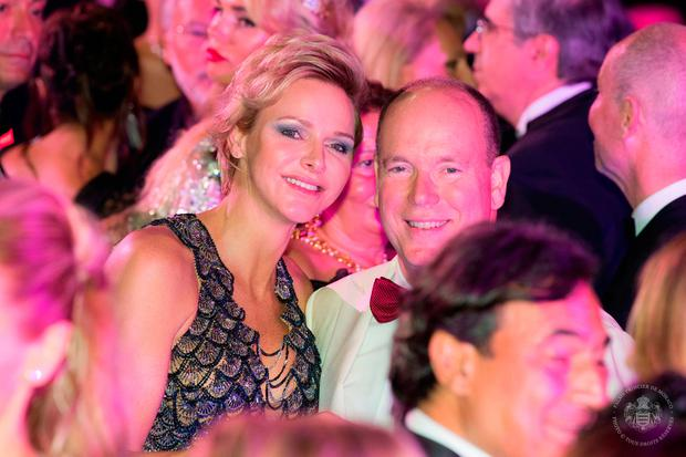 Princess Charlene of Monaco and Prince Albert II of Monaco pose duing the dance at the 70th Monaco Red Cross Ball Gala on July 27, 2018 in Monte-Carlo, Monaco. (Photo by Eric Mathon / Le Palais Princier / Monte-Carlo-SBM)