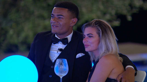 Wes and Megan. Love Island. PIC: ITV