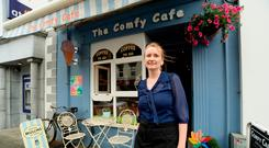 Oonagh Stephens, co-owner of The Comfy Cafe in the town. Photos: Caroline Quinn
