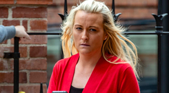 Leona Daly arrives at court in Cork. Photo: Michael MacSweeney