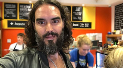 Russell Brand visits the Happy Pear restaurant in Greystones, Wicklow.