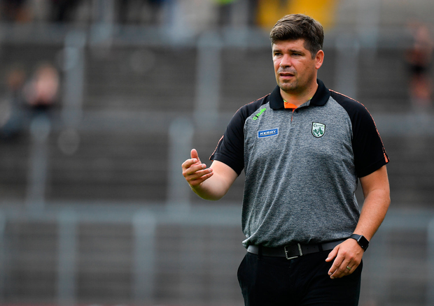 22 July 2018; Kerry manager Eamonn Fitzmaurice during the GAA Football All-Ireland Senior Championship Quarter-Final Group 1 Phase 2 match between Monaghan and Kerry at St Tiernach's Park in Clones, Monaghan. Photo by Brendan Moran/Sportsfile