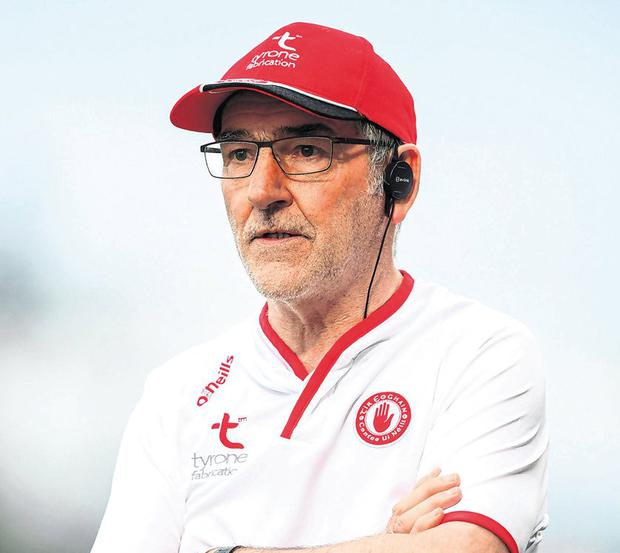 Tyrone manager Mickey Harte. Photo: Stephen McCarthy/Sportsfile