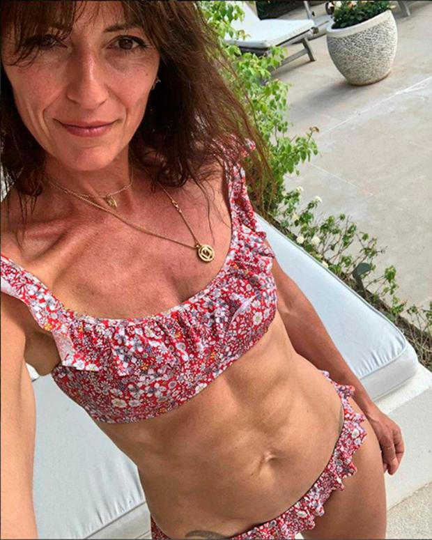 Ab fab: Davina McCall was criticised for posting her bikini-bod picture