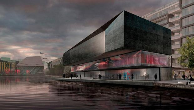 An artist's impression of the proposed visitor centre at Hanover Quay. Photo: ODAA