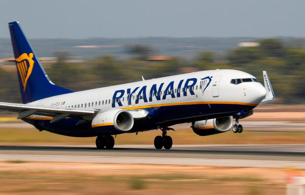 A Ryanair airplane takes off from the airport in Palma de Mallorca, Spain. Stock photo: REUTERS