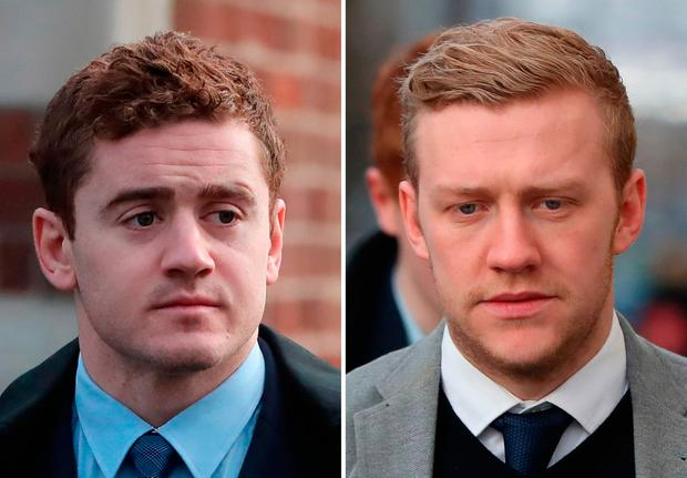 Rugby stars Paddy Jackson (left) and Stuart Olding were cleared. Photo: PA