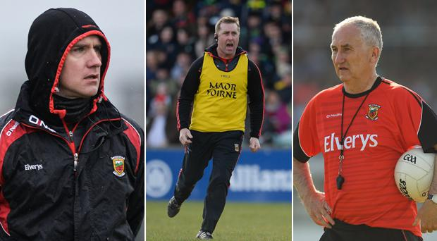 Tony McEntee, Peter Burke and Donie Buckley are expected to leave the Mayo backroom team