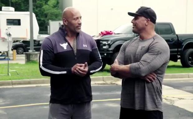 Watch The Rock Give His Stunt Double a Custom-Built New Pick-Up