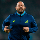 New Argentina head coach Mario Ledesma during his time as Australia forwards coach at the 2015 World Cup. Picture credit: Brendan Moran / SPORTSFILE