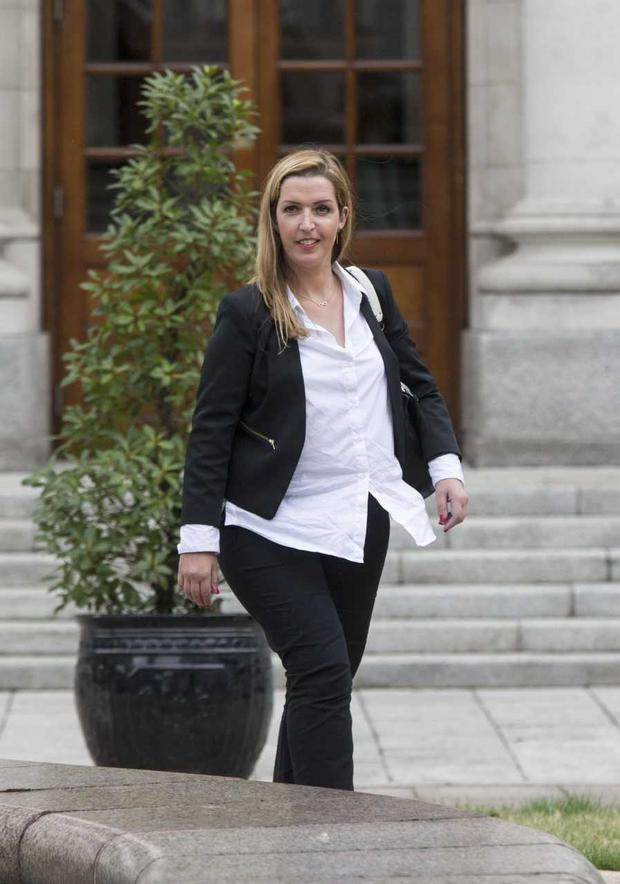 Vicky Phelan pictured after her meeting with the taoiseach at Government Buildings today Photo: Colin O'Riordan