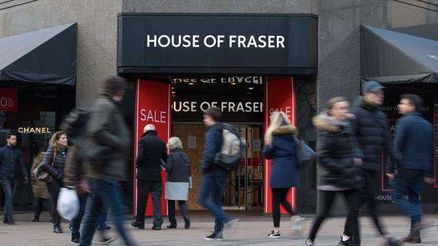 House of Fraser said talks about alternative sources of investment were ongoing. Photo: PA