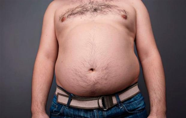 More than half of over 50s are centrally obese. Stock Image