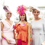 Winner Charlene Byers (L), Newry, Aoife O'Sullivan Kinsale with Niamh O'Doherty Newcastle West and - top 10 finalists at the Galway Races Summer Festival 2018 Ladies Day for the 'the g Hotel Best Dressed' 2018 judged by esteemed judges Chanelle, Lady McCoy, Bairbre Power, Mandy Maher and new g Hotel GM, Andrew Drysdale. PIC: Andrew Downes/Xposure