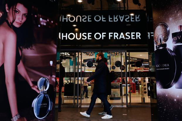 A spokesman for House of Fraser declined to comment on the report. Photo: Bloomberg