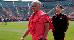 GRUMBLING: Manchester United manager Jose Mourinho. Photo: REUTERS