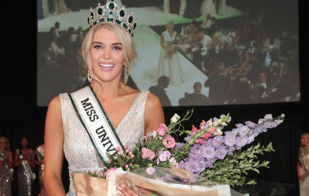 Grainne Gallanagh is crowned Miss Universe Ireland 2018 at Dublin's Mansion House