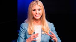 US President Special advisor and daughter Ivanka Trump in a conversation on workforce development and news of the day at the Newseum in Washington. Photo: Getty