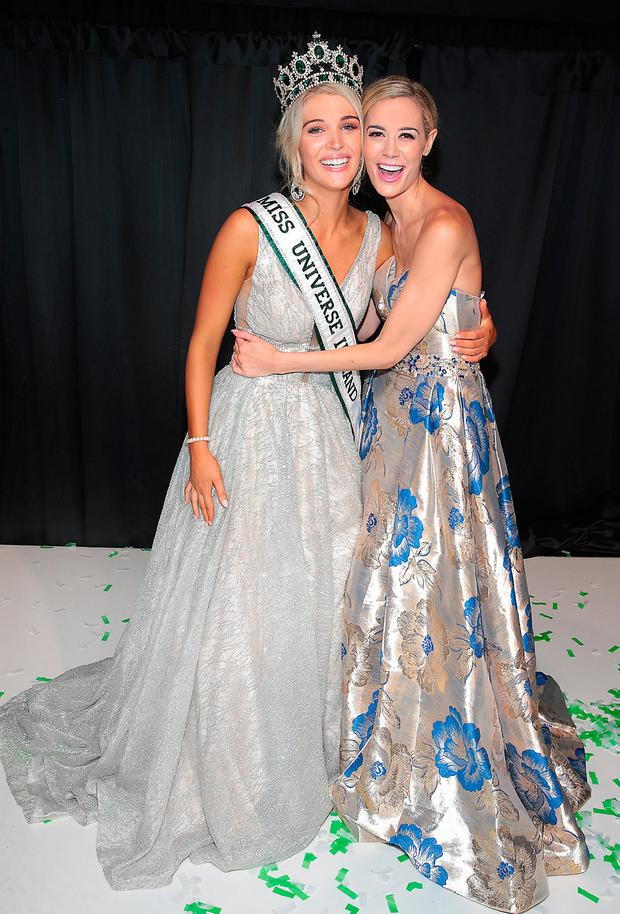 MUI Managing Director Brittany Mason with Miss Universe Donegal Grainne Gallanagh