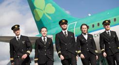 Aer Lingus reported an operating profit of €104m in six months.