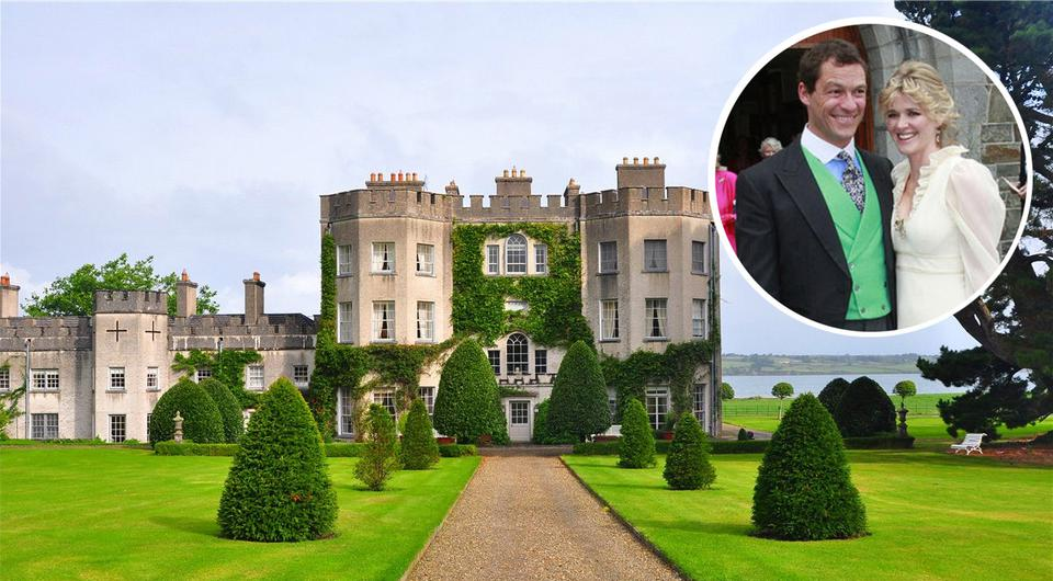 The Wire actor Dominic West together with wife Catherine Fitzgerald (Inset) will be turning Glin Castle - where the couple tied the knot themselves eight years ago - into a 'exclusive use rental'