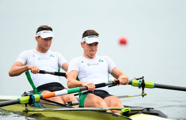 The demise of lightweight sweep rowing from the Olympic programme has forced O'Donovan and O'Driscoll to move up to the heavyweight category. Photo by David Fitzgerald/Sportsfile