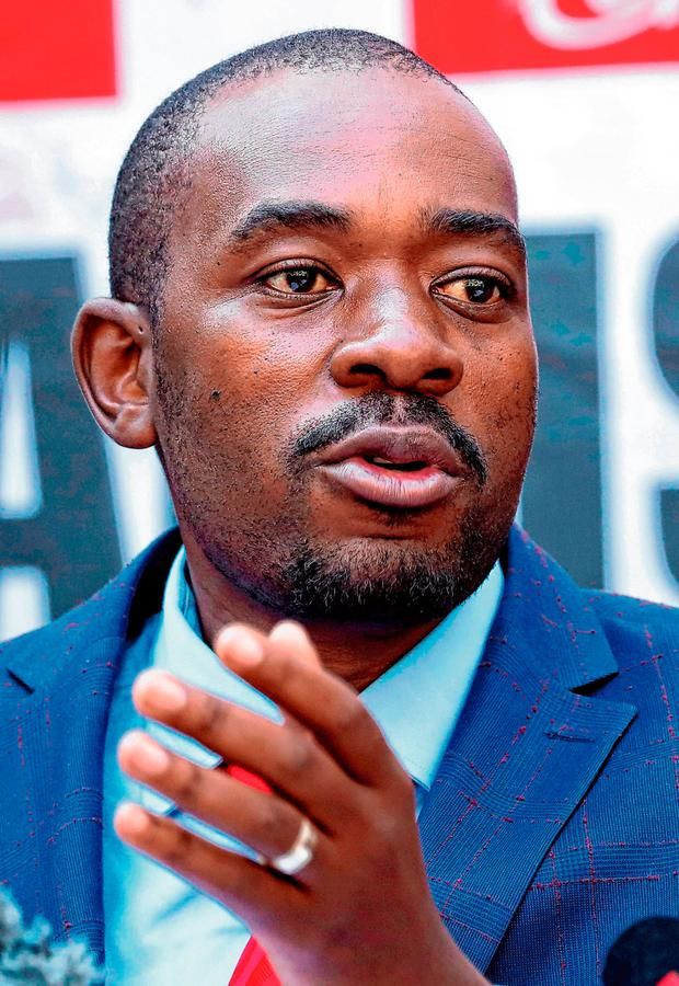 Opposition Movement for Democratic Change (MDC) leader Nelson Chamisa.