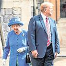 The Queen and President Trump meet. Photo: Richard Pohle /Getty Images
