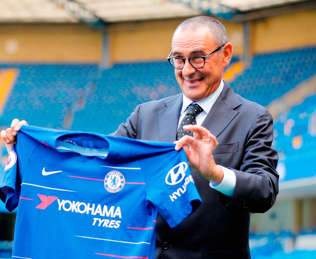 Chelsea boss Maurizio Sarri. Phjoto: Getty Images)
