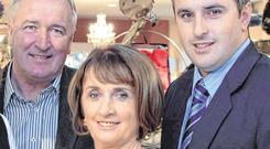 Marian O'Gorman with her husband Michael and their son Greg. Picture: Don MacMonagle