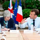 Theresa May and Emmanuel Macron in Fort de Brégançon. Picture: Reuters