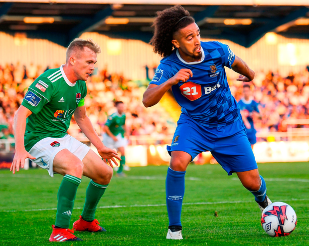 Waterford's Bastien Héry in action against Conor McCormack of Cork City. Photo: Stephen McCarthy/Sportsfile