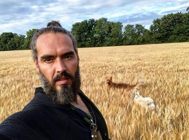 Russell Brand is currently filming in Ireland. PIC: Russell Brand/Twitter