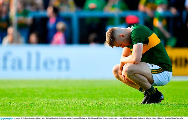 Peter Crowley of Kerry dejected