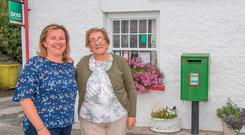SAD DAY: Postmistress Matilda Wilkin and her daughter Elaine, who will be closing the local post office in Churchill, Co Donegal. Picture: North West Newspix