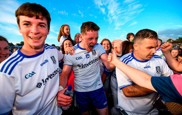 Monaghan's Conor McManus celebrates. Photo: Ramsey Cardy/Sportsfile