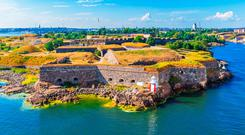 Aerial view of Suomenlinna (Sveaborg) sea fortress in Helsinki, Finland