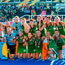The Ireland team celebrate with their medals after the Women's Hockey World Cup Final match between Ireland and Netherlands.