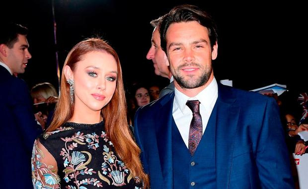 Irish singer Una Healy with her English rugby star husband Ben Foden back in 2016 – the couple split up in recent weeks. Photo: PA