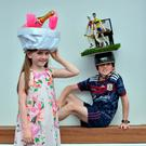 Sophia and Colin Roche, from Castlegar, Co Galway, dressed up for Mad Hatters Day at the final meeting of the Galway Races Festival. Photo: Ray Ryan