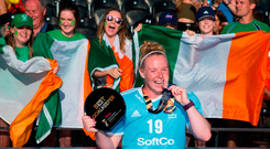 Ayeisha McFerran was deservedly named goalkeeper of the tournament. Photo by Craig Mercer/Sportsfile