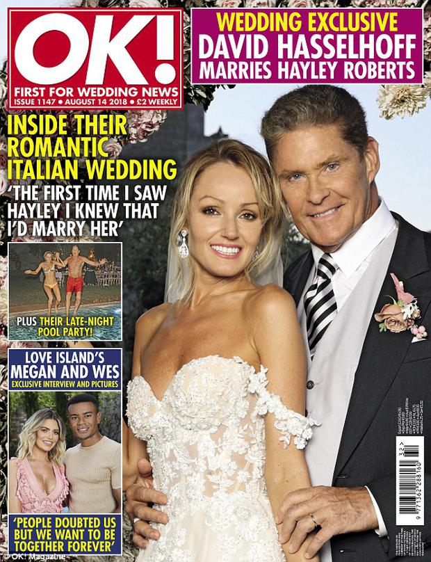 David Hasselhoff weds Hayley Roberts: First picture inside