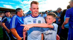 Monaghan star Ryan McAnespie has hailed the support of the Farney Army after they prevailed in Salthill's Pearse Stadium and qualified for their first All-Ireland semi-final since 1988. Photo: Ramsey Cardy/Sportsfile