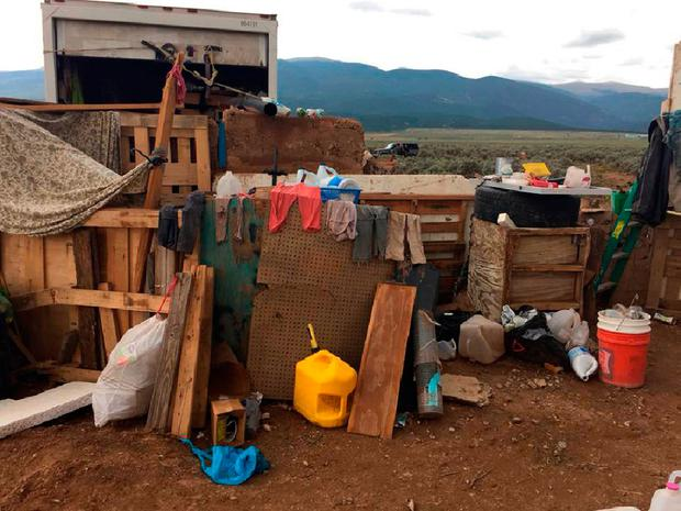 Children's clothes drying in the makeshift compound in New Mexico. Photo: AFP/Getty Images